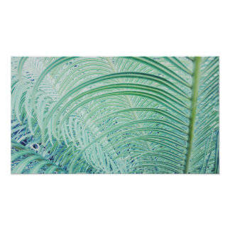 Stylish Soft Green Plant Palm Leaves Poster