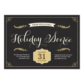"""Stylish Soiree Holiday Party Invitation 5"""" X 7"""" Invitation Card"""
