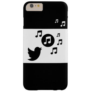 Stylish Songbird Black and White Barely There iPhone 6 Plus Case