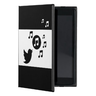 Stylish Songbird Black and White Cover For iPad Mini