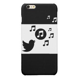 Stylish Songbird Black and White Glossy iPhone 6 Plus Case