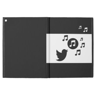 "Stylish Songbird Black and White iPad Pro 12.9"" Case"