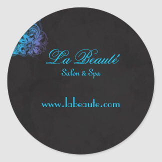 Stylish Spa Salon Floral Blue Turquoise Sticker