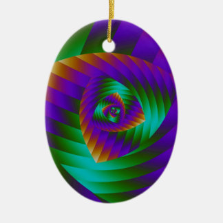Stylish spiral design ceramic ornament