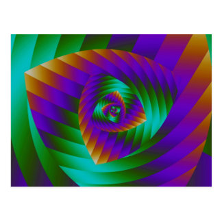 Stylish spiral design postcard