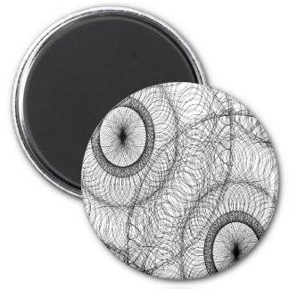Stylish Spirograph Swirly Zen Doodle Pattern Magnet