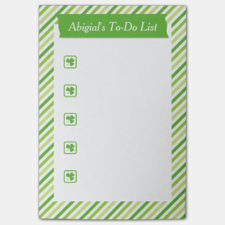 Stylish St. Patrick's Day To-Do List Post-it® Notes