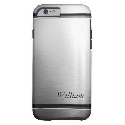 Stylish Stainless Steel Brush Metal Masculine Look iPhone 6 Case