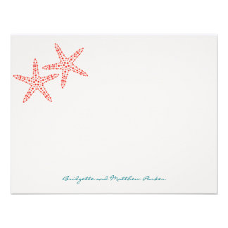 Stylish Starfish Thank You Cards Announcement