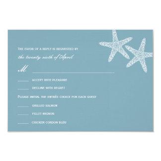 Stylish Starfish Wedding RSVP/Response Cards