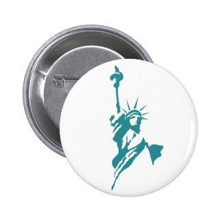 Stylish Statue of Liberty Button