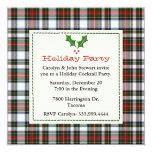 Stylish Stewart Dress Tartan Custom Holiday Party Invitation