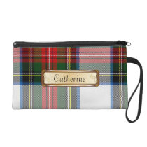 Stylish Stewart Dress Tartan Plaid Wristlet Purse