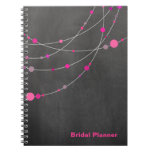 Stylish Strands chalkboard fuschia Bridal Planner Note Book
