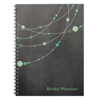 Stylish Strands chalkboard mint Bridal Planner Spiral Notebook