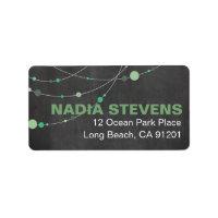 Stylish Strands | chalkboard mint Personalized Address Label