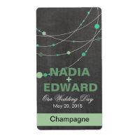 Stylish Strands chalkboard mint Wine Label