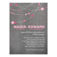 Stylish Strands | chalkboard pink Personalized Invitations
