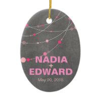Stylish Strands chalkboard pink Photo Ornament