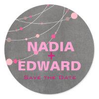 Stylish Strands | chalkboard pink Stickers
