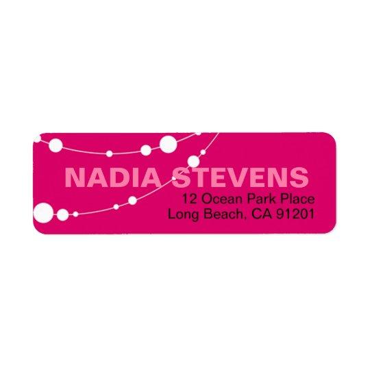 Stylish Strands   fuschia white Label