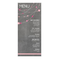 Stylish Strands Menu | chalkboard pink Invitations