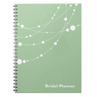 Stylish Strands | mint white Bridal Planner Spiral Note Books
