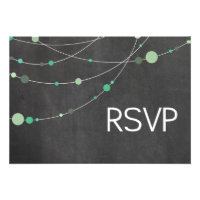 Stylish Strands RSVP chalkboard mint Custom Invitations