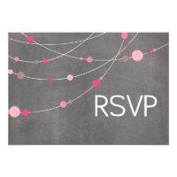 Stylish Strands RSVP chalkboard pink