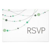 Stylish Strands RSVP white mint Invites