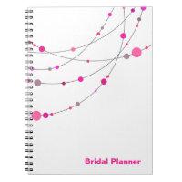 Stylish Strands   white fuschia Bridal Planner Journals