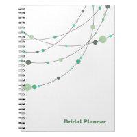 Stylish Strands white mint Bridal Planner Journals