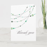 Stylish Strands white mint Thank You Cards