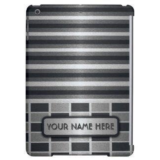Stylish Stripe Block Pattern Name Template iPad Air Case