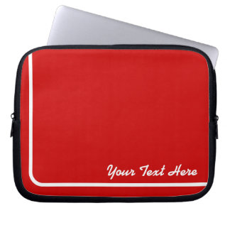 Stylish Stripe Light Red Background Computer Sleeve
