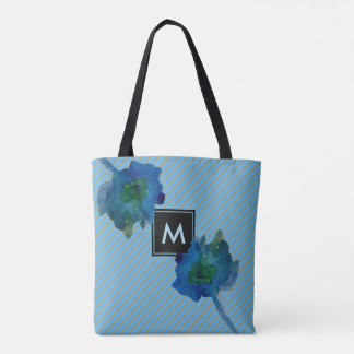 Stylish Stripes and Floral Tote Bag