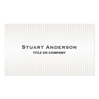 Stylish stripes elegant personal professional Double-Sided standard business cards (Pack of 100)
