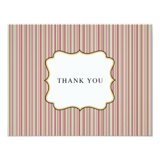 Stylish Stripes Flat Thank You Card