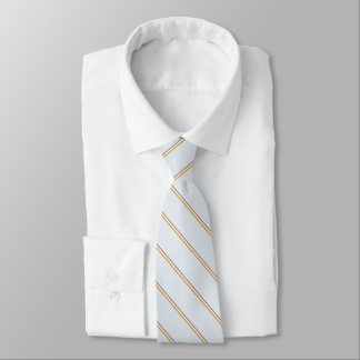 Stylish stripes in natural colors on pale green neck tie