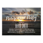 Stylish Sunset Beach Retirement Party 5x7 Paper Invitation Card