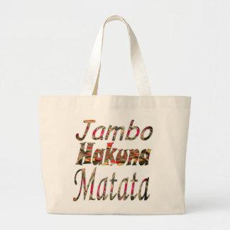 Stylish swashbuckling Jambo Hakuna Matata Custom Large Tote Bag