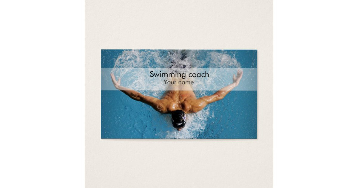 Swimming Coaches Business Cards & Templates | Zazzle