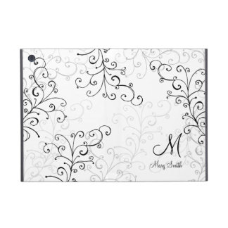 Stylish Swirl Custom Monogram Cover For iPad Mini