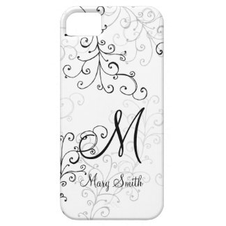 Stylish Swirl Custom Monogram iPhone SE/5/5s Case