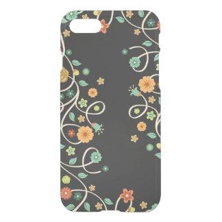 Stylish Swirl Floral Flowers - Dark Fashion iPhone 7 Case