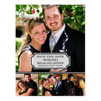 Stylish Tab Save The Date Postcard