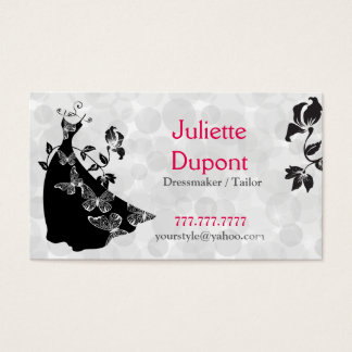 Stylish Tailor Dressmaker tailor salon Business Card