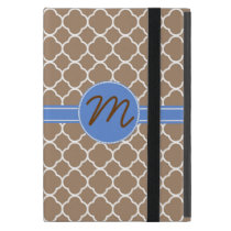 Stylish Tan Pattern Monogram Mini Pad Air Case
