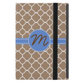 Stylish Tan Pattern Monogram Mini Pad Air Case iPad Mini Case