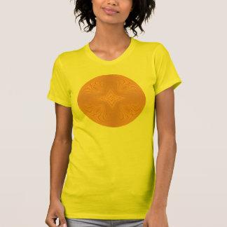 Stylish Tangerine Orange Gold Mandala T-shirt